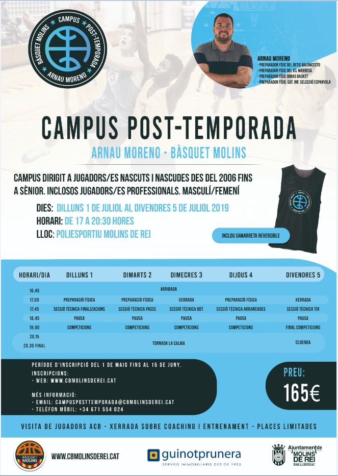 Formulari inscripció Campus Post-temporada